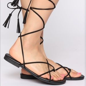 Lace up sandal- NWT AND BOX!!!